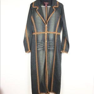 True vintage 1990's Jordache denim duster jacket